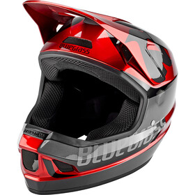 bluegrass Legit Helm red metallic glossy/black matte